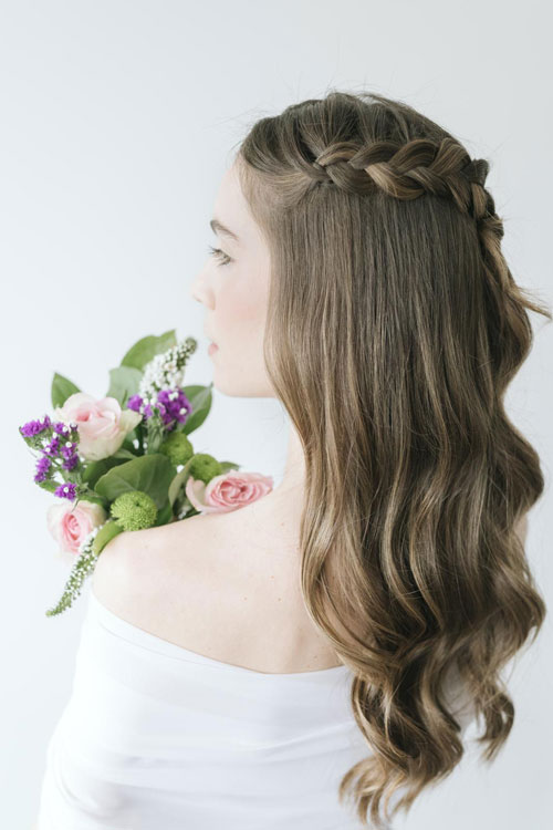 Braids and ponytails hair style for Valentines Day